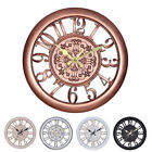 3D Circular Retro Vintage Roman Hollow Out Large Wall Clock Home Room Decoration