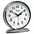 Equity by La Crosse Wind-up Loud Bell Alarm Clock Analog Display Metal Case