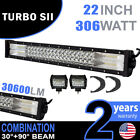 """22"""" 306w LED Light Bar Combo IP67 Driving Light For Off Road 4WD Boat"""