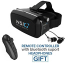 NSI Virtual Reality Headset Best 3D VR Virtual Reality Glasses NEW - Fast Ship