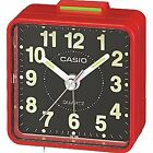 Casio TQ140 Black Dial Easy Reader Red Table Top Travel Alarm Clock