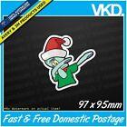 Christmas Squidward Dabbing Sticker/ Decal - JDM Drift Car Dab Funny Meme Vinyl