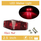 10pcs Red LED Lights Side Marker Tail Light Clearance Truck Trailer Universal