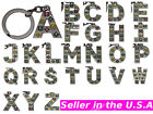 26 Alphabets Letters Flower Keychain Key Ring Chain Fob Gift 5