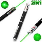 2IN1 High Power 10mW 532nm Green Beam Laser Pointer Lazer Projector Pen D