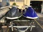 2011 2012 Yamaha VX WaveRunners Low Hours With Double Trailer Included