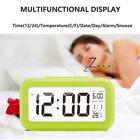 Time Electronic Clock 5 Color Decor Auto Temperature Digital LED Alarm Clock