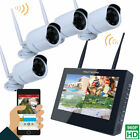 """10"""" LCD 4CH Wireless HD NVR IR Night Vision 960P Camera Home Security System Kit"""