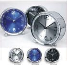 Retro Mini Quartz Alarm Clock Twin Bell Round Number Desk Bed LED Clock Fashion