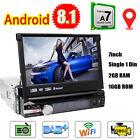 "7"" Single 1Din Car DVD GPS Android 8.1 Auto Radio Stereo 2GB Head Unit Wifi DAB+"