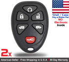 2x New Replacement Keyless Entry Remote Control Key Fob Case For Chevy - Shell