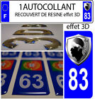 1 plate sticker registration auto TUNING 3D RESIN COAT OF ARMS CORSICAN