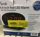 Equity 0.9 Inch LED Alarm Clock ⏰ With USB Charging Port Model 30024