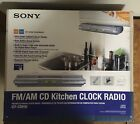 SONY FM/AM CD Kitchen Clock Radio, ICF-CDK50, New in Original Box
