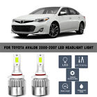 For Toyota Avalon 00-07 A Pair 6000K 9005 High Beam Lamp COB LED Light Headlight