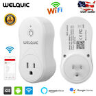 2X Smart WiFi Socket Switch Outlet Plug Remote Control with Alexa & Google Home