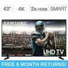 "Samsung 43"" inch Class 4K 2160P Smart LED TV UN43NU6950FXZA Full HD"