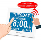 "iGuerburn Talking Day Clock 8"" Large Display with Touchscreen for Dementia Loss"