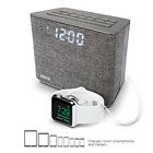 iHome iBT232 Bluetooth Dual Alarm FM Clock Radio with Speakerphone and USB -Gray