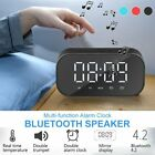 Alarm Clock Bluetooth Speaker Digital Temperature Stereo Bass LED FM Loudspeak