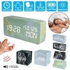 Marbling Large Display Digital LED Desk Alarm Clock Calendar °C-℉ Thermometer