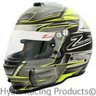 Zamp RZ-44CE Carbon Green Honeycomb Auto Racing Helmet - Snell SA2015 / FIA8859