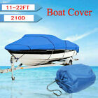Oxford Fabric Waterproof Boat Cover for V-Hull Runabouts&Bass Boats 11-22FT 210D