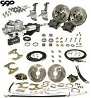 65 68 Chevy Belair Nomad Front Rear Disc Brake Kit Stock Spindles Hydrastop