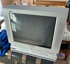 """Panasonic 20"""" Triple Play DVD VCR TV Combo PV-DF2004 A Television Tested Rare!!"""