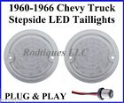 Clear to Red Chevy GMC Stepside Pickup Truck LED Taillights Flasher 1960-1966