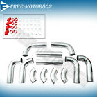 "Universal Intercooler Piping Polish 2.5"" Aluminum Hard Pipe Kit"