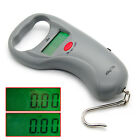 Handheld Digital Weigher Electronic Balance Scale Max 45kg/10g W/ Steel Tapeline