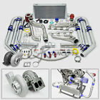 T4 GT45 13PC TURBO CHARGER KIT MANIFOLD+CROSS PIPE 79-93 FORD MUSTANG 5.0L V8