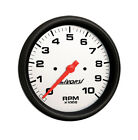 "LIVORSI Electric Automotive 10,000 RPM Tachometer Platinum/Black 3 3/8"""