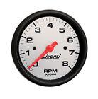 "LIVORSI Electric Automotive 8000 RPM Tachometer Platinum/Black 4 5/8"""