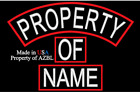 CUSTOM EMBROIDERED PATCH SET PROPERTY OF NAME TAG SET MADE IN USA
