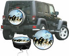 Spare Wheel Cover Sled Dog Husky Ghost Action Car Decal Gift Idea