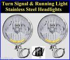 Stainless Turn Signal Running Light 10 LED Headlights Dune Buggy VW Sandrail 4x4