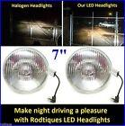 "7"" LED Headlights Super Bright White Maxtel Head Lamps Upgrade Conversion - 2"