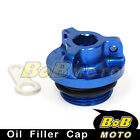Blue Racing Plug Oil Filler Cap Kawasaki Ninja 250 ZZR 250 97-03 04 05 06