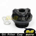 Black Racing Plug Oil Filler Cap for Ducati Monster 900 1000 ie 1100 EVO