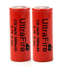 2(1 Pair) UltraFire 26650 Li-ion Battery Rechargeable 3.7V 5000mAh For LED Torch