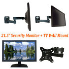 "Security Monitor 21.5"" 1080P HDMI VGA Looping BNC Output Input & Wall Mount"