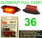 CLOSEOUT! 36 NEW RED SUBMERSIBLE LED CLEARANCE LIGHTS/BULB,TRAILER RUNNING LIGHT