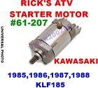 RICK'S STARTER KAWASAKI 1985,1986,1987,1988 KLF185 #61-207