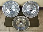 "1957 Buick Hub Caps 15"" Set of 3 Wheel Covers"