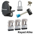 Master Lock - 6 Trailer Locks Keyed Alike - 6KA-37937-3