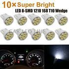 10pcs White 168 T10 Instrument Panel Cluster Led Light Dashboard For Chevrolet