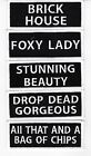 FOXY LADY SEW/IRON ON PATCH EMBLEM BADGE EMBROIDERED LINGERIE SEXY BIKER SEX