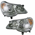 Headlights Headlamps Left & Right Pair Set NEW for 07-10 Chrysler Sebring